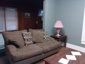Living room love seat.
